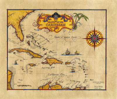 Caribbean clipart pirate map Free com ArtistRising Pirate Clip