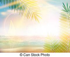 Caribbean clipart sunrise beach On 12 EPS10 Images Sunrise