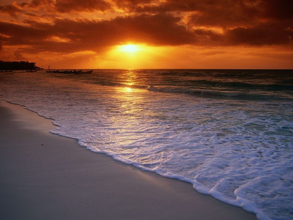 Caribbean clipart sunrise beach Haglund:  Backgrounds Sunrise Beach