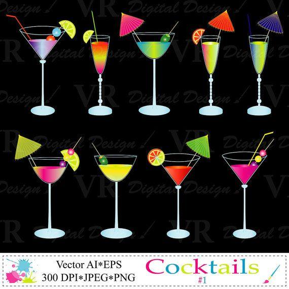 Caribbean clipart umbrella drink Cocktails Art best Art VRDigitalDesign