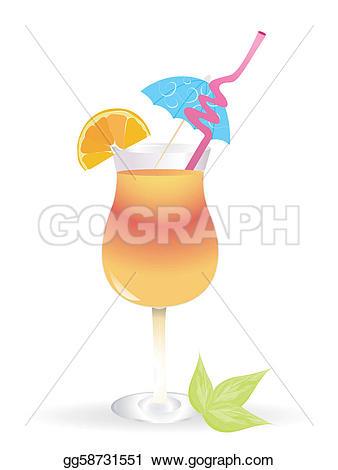 Caribbean clipart umbrella drink Cocktail  EPS Tropical umbrella