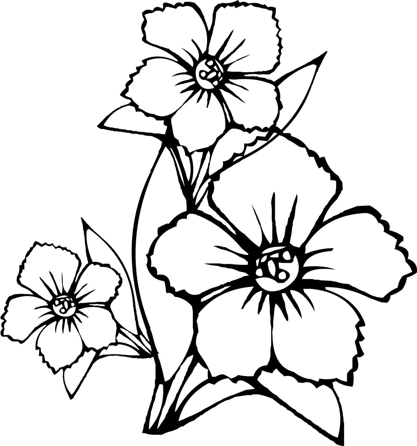 Caribbean clipart welcome flower Coloring Free Flower Art Clip