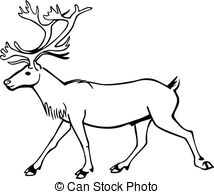 Caribou clipart  Walking caribou Caribou Illustration