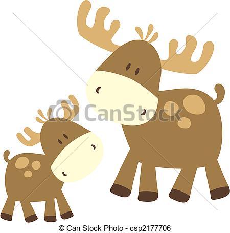Caribou clipart baby deer Caribou ilustration of Caribou childish
