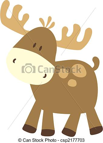 Caribou clipart big Caribou childish Illustrationsby deer easy