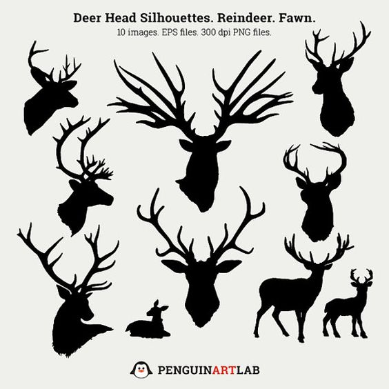 Caribou clipart big Deer Cut Silhouettes clipart SVG