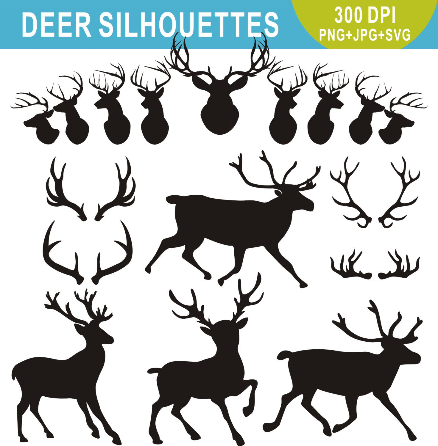 Caribou clipart big This Silhouettes a Deer Silhouettes