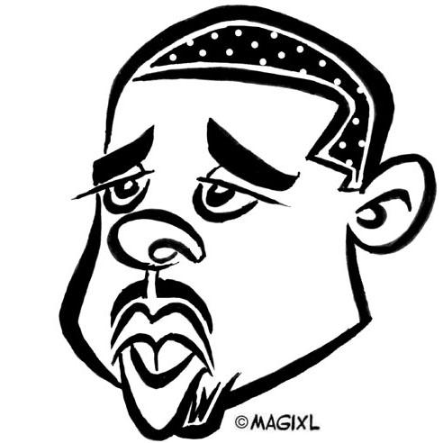 Caricature clipart  Basketball caricature NBA Caricature