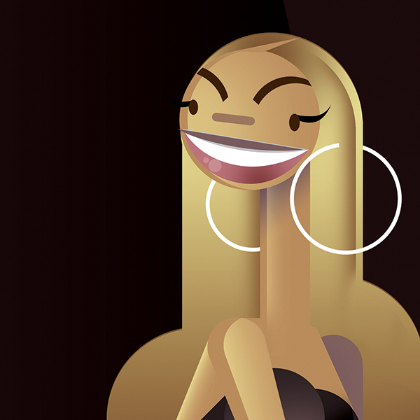 Caricature clipart beyonce — Piquer — Picassó I