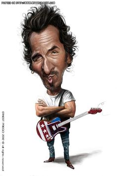 Caricature clipart bruce springsteen Boss) (The Caricature Springsteen