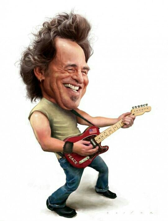 Caricature clipart bruce springsteen The _ images Springsteen Pinterest