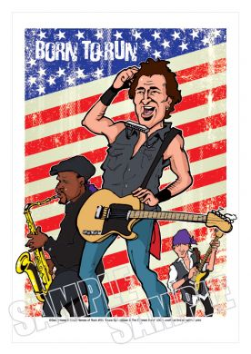 Caricature clipart bruce springsteen Heroes caricature caricature Springsteen Rock