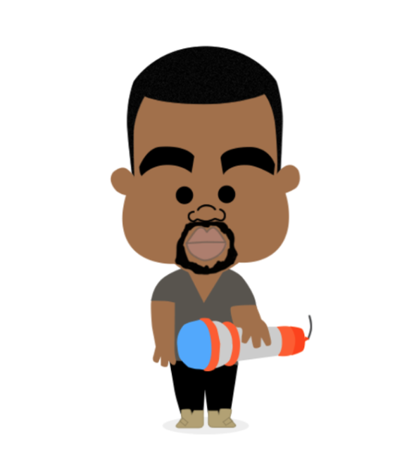 Caricature clipart kanye west App West  There's Kanye