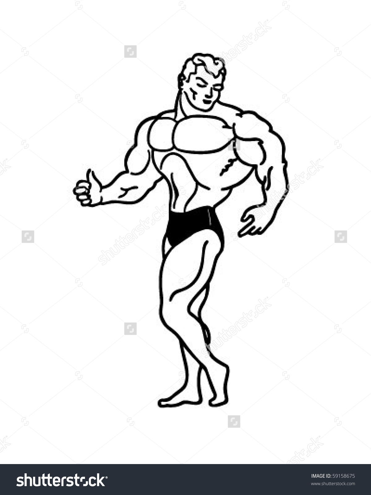 Caricature clipart muscle man N Clipart clipart of Caricatures