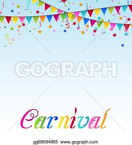 Carneval clipart confetti Vector text Vector with confetti