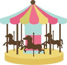 Carousel clipart cute  cutting clip carnival go