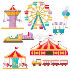 Carneval clipart merry go round D'attractions round go art merry