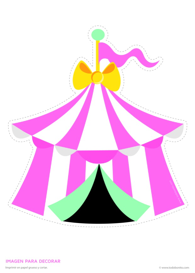 Carneval clipart pink circus tent Party PNG clip Invitation art