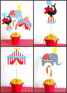 Carneval clipart setting LaLaLissyLou Circus Centerpieces Box Paper
