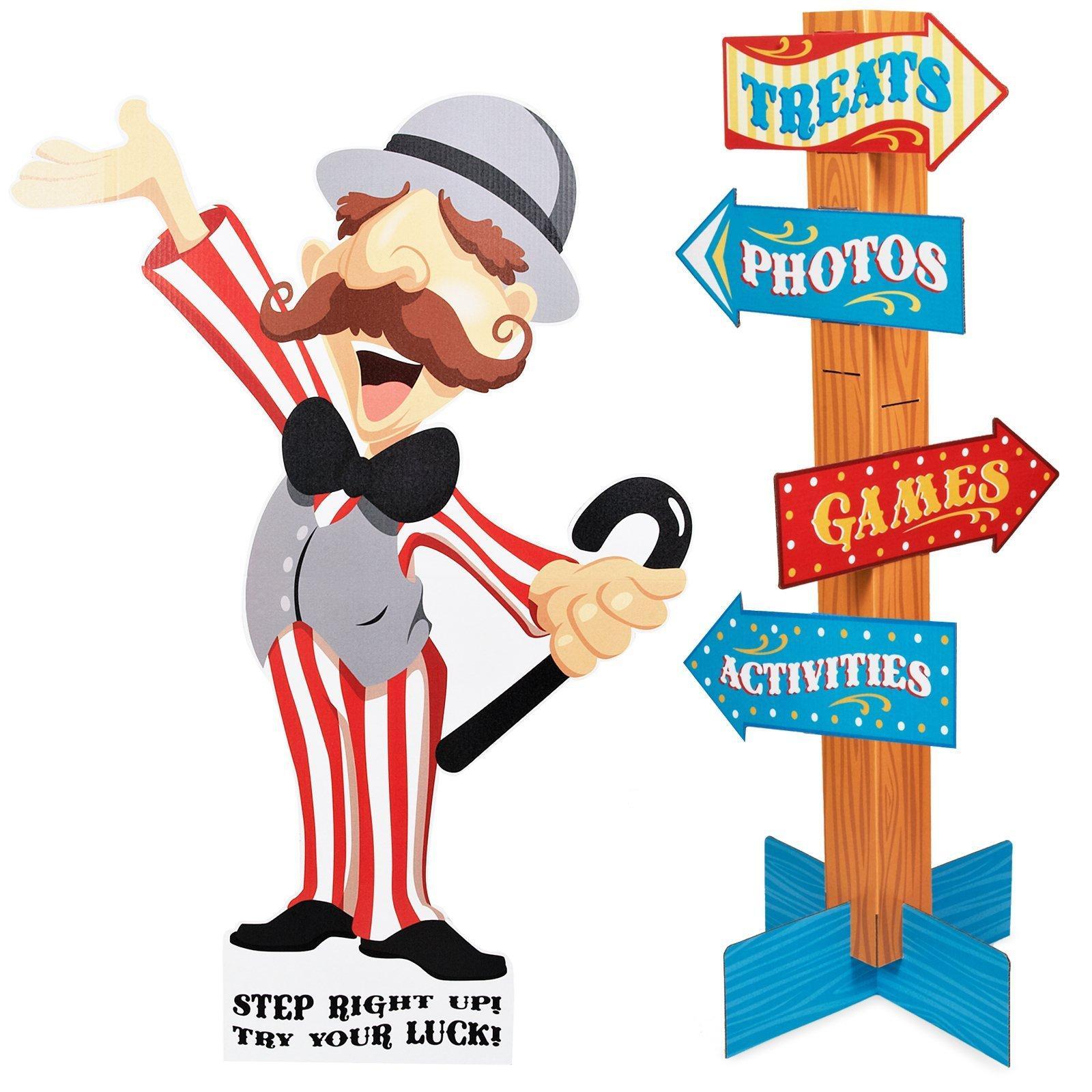 Carneval clipart stalls Com Plates Carnival Games BirthdayExpress