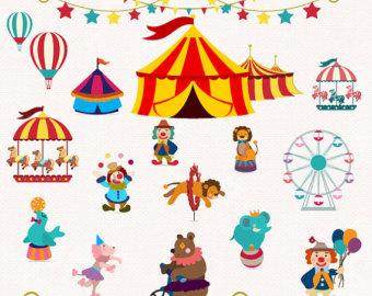 Carousel clipart circus Design Circus Clip Decor INSTANT