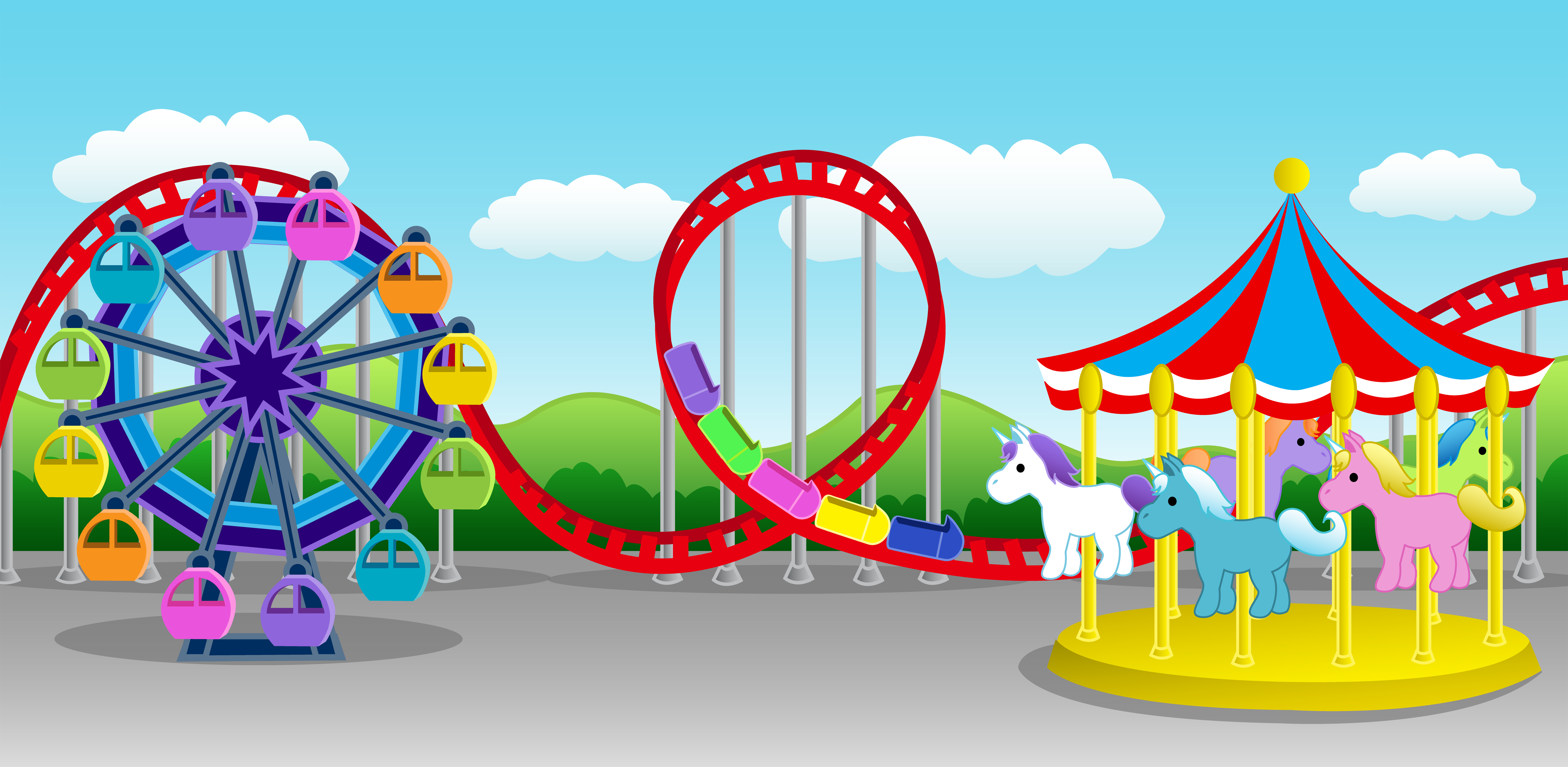 Ferris Wheel clipart funny 6 borders Carnival clipart Carnival