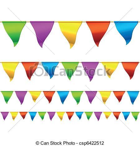 Carneval clipart banderitas Of Illustration Bunting csp6422512 Seamless