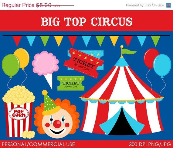 Circus clipart circus ticket Big Commercial Circus Art Clipart