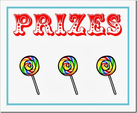 Carneval clipart carnival prizes Party Printables  Carnival Signs!