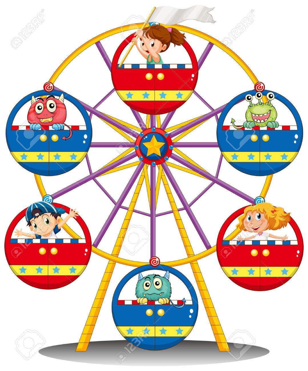 Carneval clipart carnival ride Clipart art clip Zipper