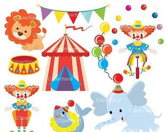 Carneval clipart circus animal Circus commercial Clipart INSTANT ON