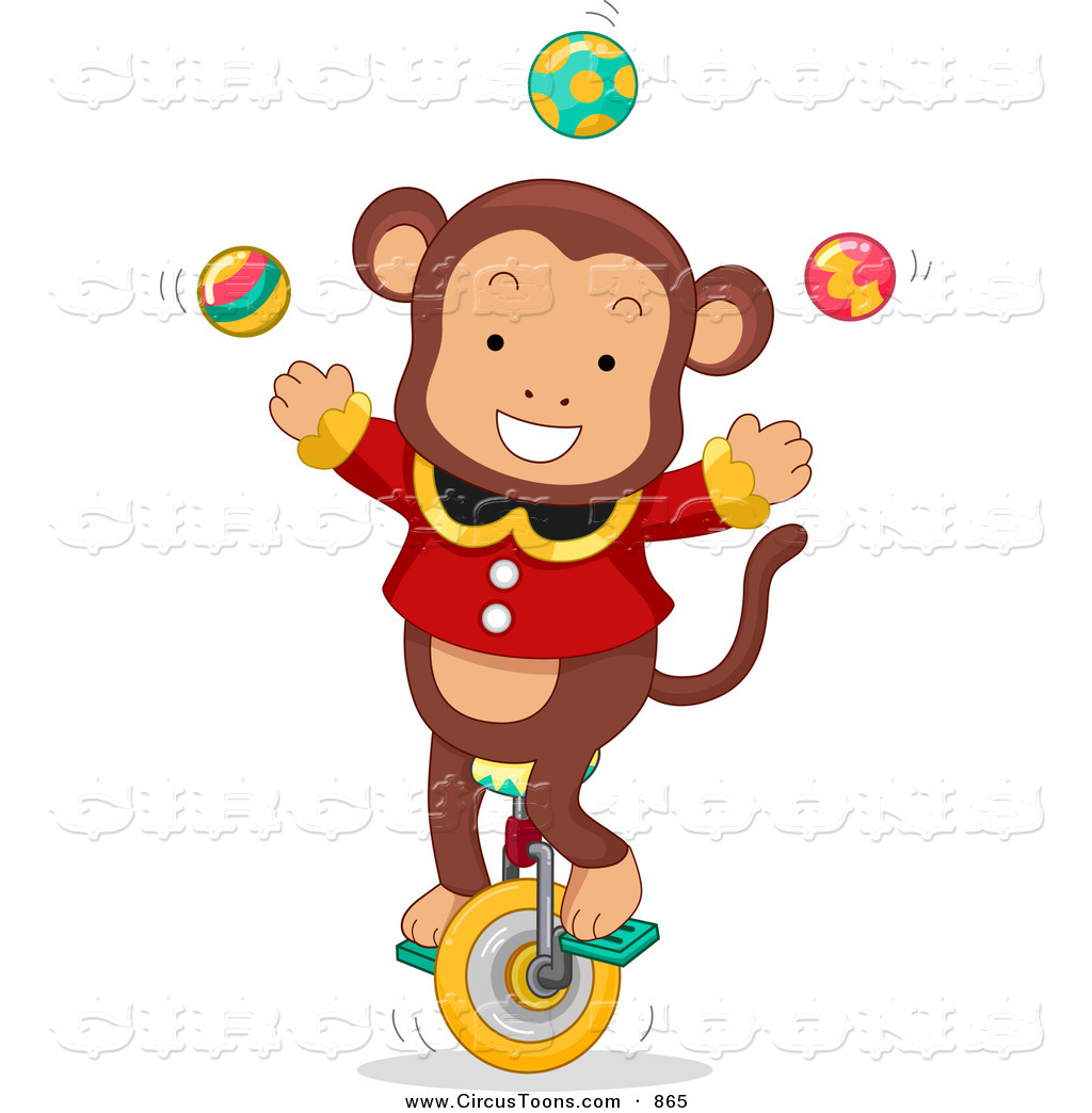 Carneval clipart circus animal Unicycle Circus Monkey Designs Free