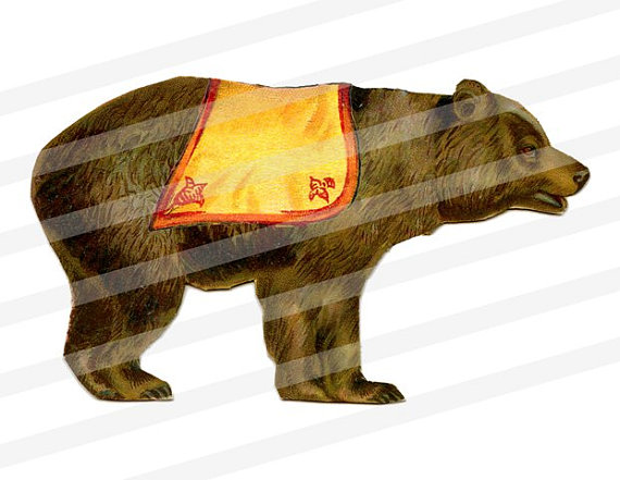 Carneval clipart circus bear Image INSTANT a digital Color