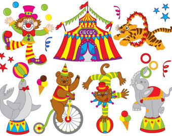 Carneval clipart circus bear SALE Circus Vector Animal OFF