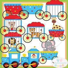 Carneval clipart circus train $4 Design Clipart for clipart:
