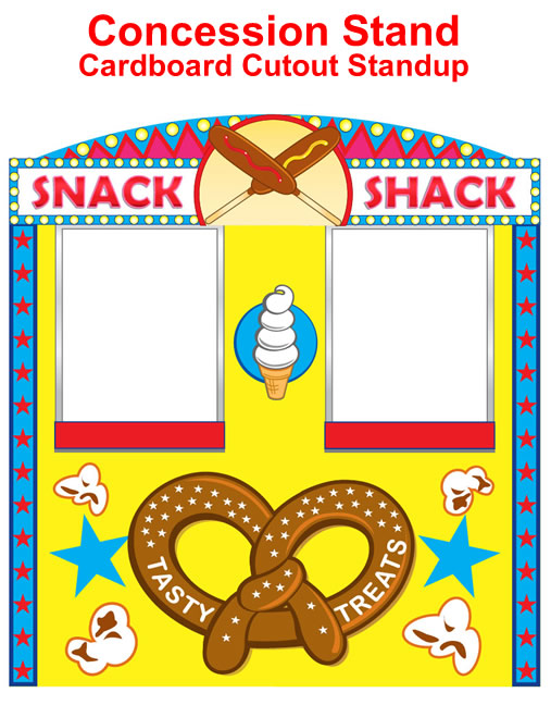 Carneval clipart concession stand Cardboard Prop Stand Cutout