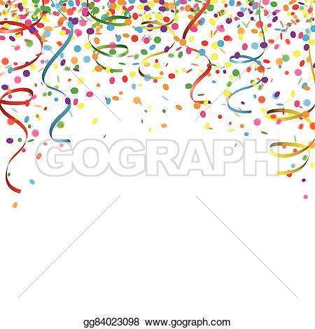 Carneval clipart confetti Stock Carnival Carnival ribbons Confetti