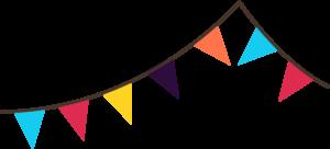 Carnival clipart flag banner House – flip – carnival