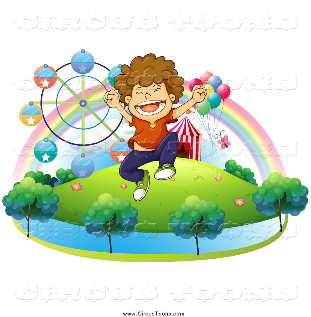 Carneval clipart happy Boy a Jumping Clipart of