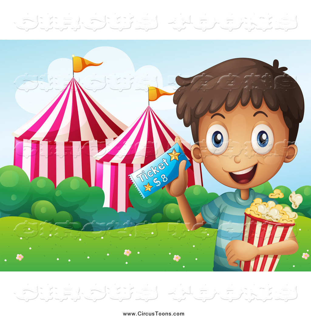 Carneval clipart happy Boy  with Happy Circus