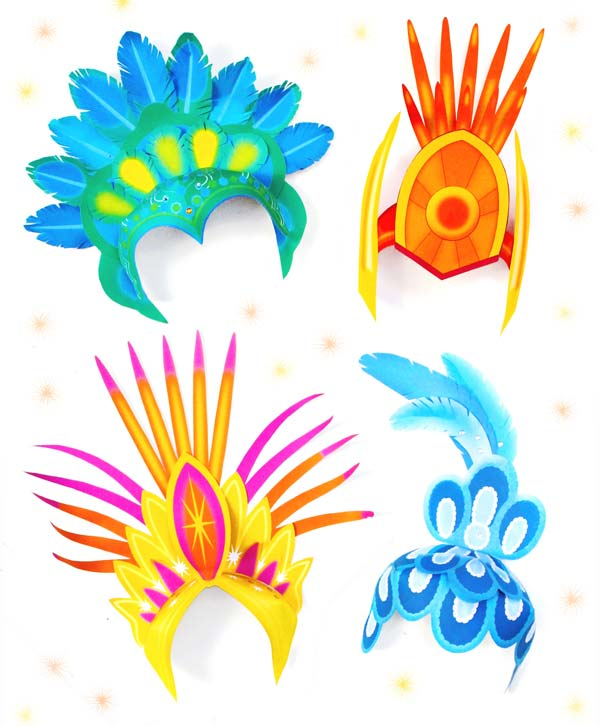 Carnival clipart headdress Headpiece instructions: 4 step Easy