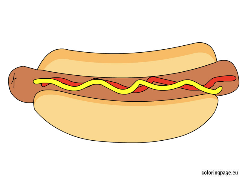 Carneval clipart hot dog Dog Share: Coloring Hot Page