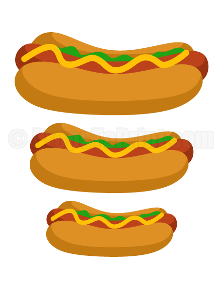 Carneval clipart hot dog Dog Printable Printable Create at