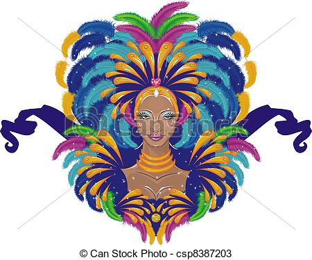 Carneval clipart logo Beautiful girl  Beautiful carnival