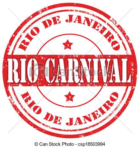 Carneval clipart logo  of stamp stamp Rio
