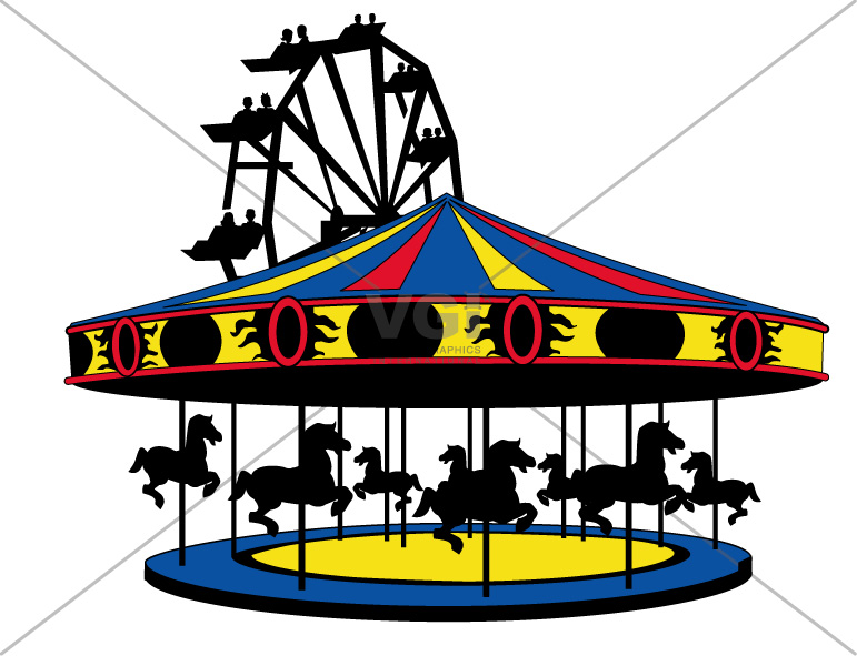 Carousel clipart merry go round Clipart Clipart Images and Carnival
