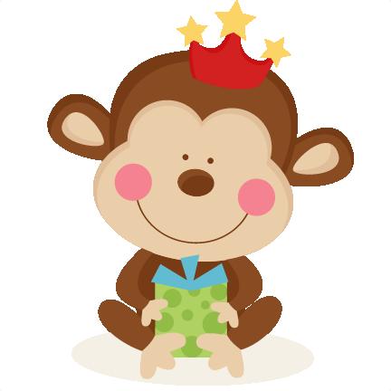 Baboon clipart birthday  file scrapbook cut cute