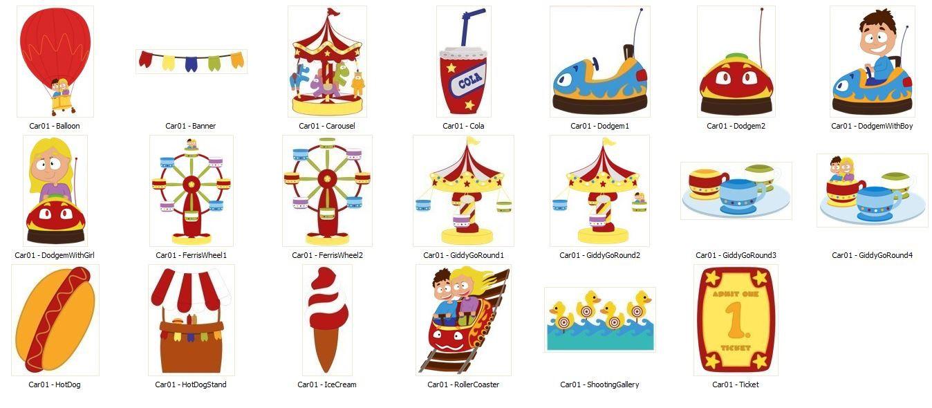 Carousel clipart kids carnival  art Carnival kids playground