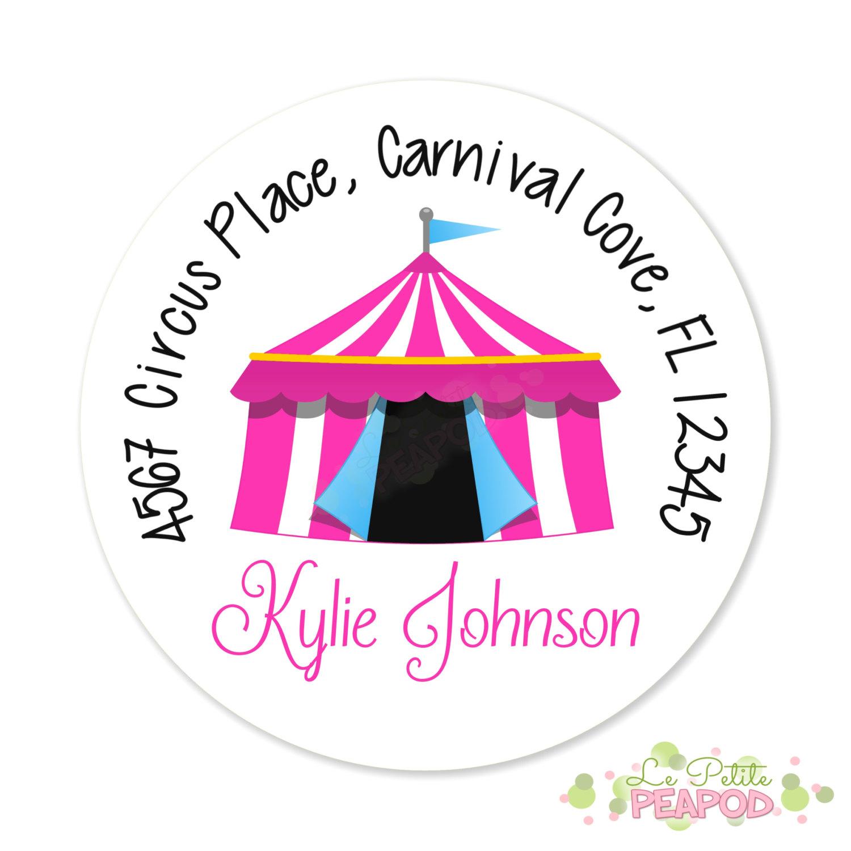 Carneval clipart pink circus tent Round Circus Pink Circus Address