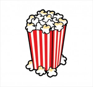 Drawn popcorn cartoon movie #11